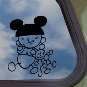 DISNEY Black Decal MICKEY MOUSE Car Truck Window Sticker