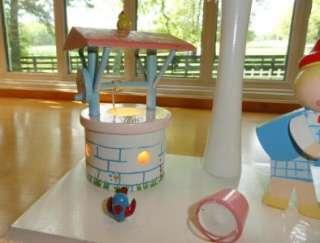 Vtg~IRMI~Nursery Rhyme~Baby~Child~Wood~Wooden~Lamp & Night Light w