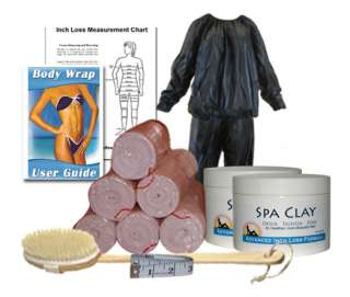 This kit is designed for partial body wraps using the 6 wraps included