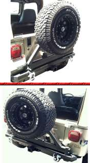 06 YJ TJ CLASSIC SRC REAR BUMPER TIRE CARRIER D RINGS INCLUDED