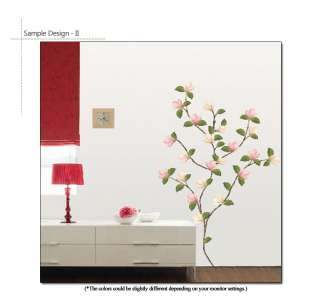 PINK MAGNOLIA ★ MURAL PEEL & STICK DECALS WALL STICKER