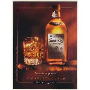 1993 Scoresby Very Rare Scotch Whisky Bottle Glass Taste the