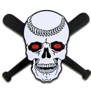 Baseball Skull with Bats Pin Jewelry