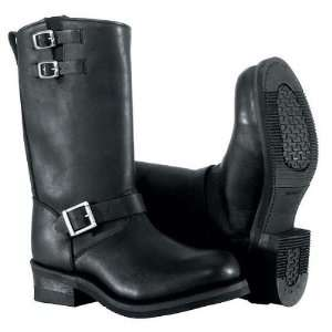 River Road Twin Buckle Engineer Motorcycle Boots Black 13