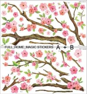 Wall Paper Art Deco Mural Sticker Cherry Blossom A+B