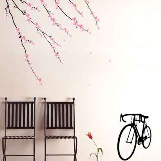 CHERRY BLOSSOM BRANCH VINYL WALL DECAL STICKER PS93