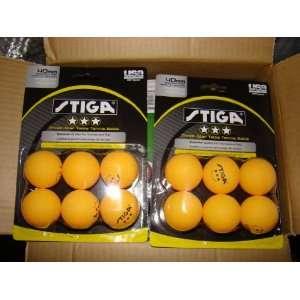 Stiga Three Star Orange Table Tennis Balls 36 PACK Sports