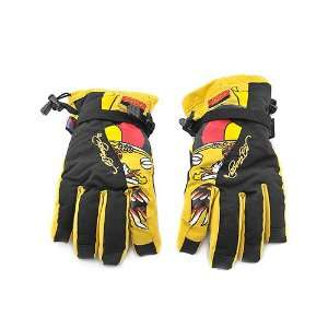 Ed Hardy Skiing / Snowboarding Gloves Mens L Sports