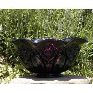 Amethyst Purple Glass Flaired Centerpiece Bowl Made in Pa